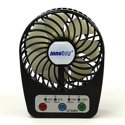 3. Innobay Mini Handy Portable Rechargeable Fan Operated by Built-in Lithium Battery