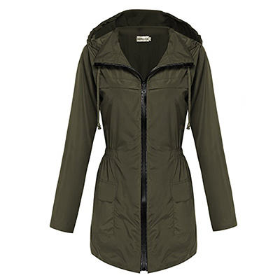 2: Hotouch Women's Lightweight Travel Trench