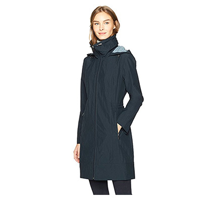 8: Haven Outerwear Women's Long Packable Rain Jacket