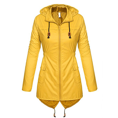 9: Beyove Women's Lightweight Packable Outdoor Coat