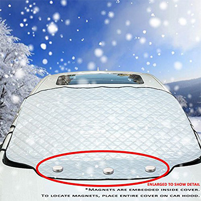 4. VIVVAUTO Magnetic Car Windshield Cover