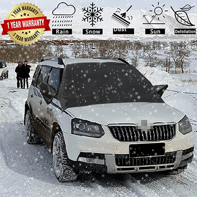 8. DeDElectr Car Windshield Snow Cover